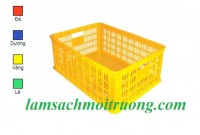 Chuyên cung cấp rổ nhựa 5 bánh xe, rổ nhựa HS011, sọt quai sắt giá rẻ