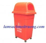 Thùng rác 95l, thùng rác công cộng, thùng rác nhựa HDPE giá rẻ