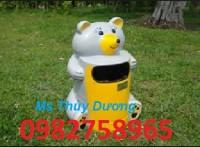 Thùng rác chuột Mickey, thùng rác con vật ngộ nghĩnh, thùng rác công cộng giá rẻ