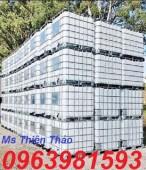 Thùng nhựa 1 khối, thùng nhựa 1000 lít, tank nhựa 1000 lít, thùng đựng hóa chất