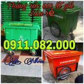 Nơi bánThùng rác 240 lít giá rẻ tại đồng nai, thùng rác y tế vàng, đỏ, cam- 091