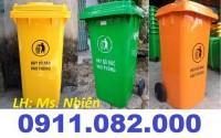 Thùng rác 40 lít 2 ngăn giá rẻ- sỉ thùng rác 120L 240L 660L giá thấp- lh 0911082