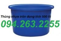 Thùng nhựa cỡ lớn, bán thùng chứa công nghiệp, thùng nhựa 500l giá rẻ