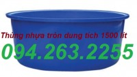 Thùng nuôi cá, thùng nhựa 3000l, thùng chứa cỡ lớn giá rẻ
