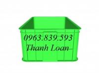 Thùng nhựa đặc HS003 - Rổ nhựa đan công nghiệp giá rẻ - 0963.839.593