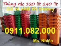 Thùng rác 120 lít 240 lít 660 lít giá rẻ tại kiên giang- hậu giang