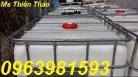 Thùng chứa hóa chất, thùng chứa 1000l, tank nhựa 1000l giá rẻ