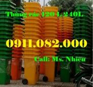 Thùng rác nhựa giá rẻ tại vĩnh long- Giảm giá thùng rác 120L 240L 660L giá sỉ- l