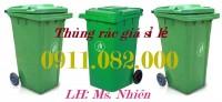 Thùng rác nhựa chuyên sỉ giá rẻ- Thùng rác 120 lít 240 lít 660 lít- lh 091108200