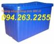 Thùng nhựa 500 lít, thùng nhựa hình chữ nhật, thùng đựng hóa chất, bồn nhựa