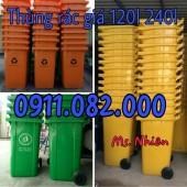 Thùng rác 240 lít giá rẻ tại thị trấn mái dầm- hậu giang- lh 0911.082.000