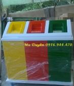 Thùng rác 3 ngăn, thùng rác phân loại rác thải call 0916.944.470 Ms Duyên