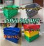 thùng nhựa đặc A2, thùng nhựa đặc có quai sắt, sóng nhựa bít, thùng nhựa đặc