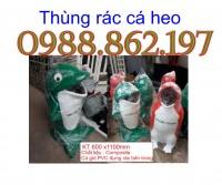 Thùng rác hình con cá heo, thùng rác dùng trong công viên, thùng rác dùng trong