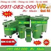 Phân phối thùng rác nhập khẩu giá tốt- thùng rác 120L 240L 660L giá rẻ