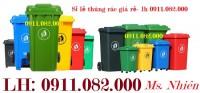 Sỉ thùng rác 660 lít giá rẻ tại sóc trăng- Thùng rác các loại giá thấp- lh 09110