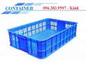 thanh lý rổ nhựa mới 100‰ giá rẻ, thùng nhựa công nghiệp dài 610 mm, sóng nhựa