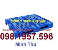 Bán Pallet nhựa, pallet nhựa liền khối, pallet nhựa đơn 1 mặt giá rẻ