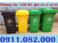 Thùng rác 120 lít màu xanh giá rẻ- Phân phối thùng rác giá rẻ- 0911082000