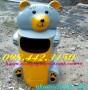 Thùng rác hình gấu misa nhựa composite
