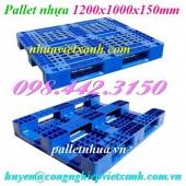 Pallet nhựa 1200x1000x150mm PL466 giá rẻ, siêu cạnh tranh call 0984423150
