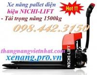 Xe nâng pallet chạy điện 1.5 tấn NICHI-LIFT giá siêu rẻ call 0984423150 – Huyền