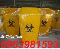 Thùng rác y tế 120 lít, thùng rác 240 lít, thùng rác nhựa HDPE giá rẻ