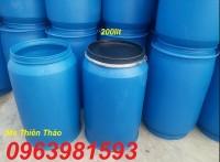 Bán thùng phuy 220l, thùng phuy nhựa, thùng phuy làm bè giá rẻ