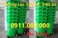 Phân phối thùng rác 120 lít 240 lít giá rẻ tại vũng tàu-lh 0911.082.000