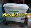 thùng rác nhựa 660l 4 bánh xe, xe gom rác thải y tế, xe gom rác bệnh viện giá rẻ