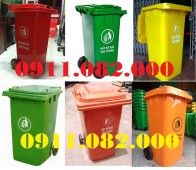 Giá thùng rác 240 lít tại hậu giang- Thùng rác môi trường, thùng rác 120L 660L g
