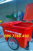 Thùng rác composite 1000 lít, thùng rác 3 bánh xe giá rẻ call 096.7788.450