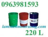 Thùng phuy sắt nắp mở, thùng phuy đựng nước, thùng phuy sắt 220 lít giá rẻ nhất