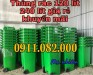Xe gom rác 660 lít giá rẻ tại cần thơ- thùng 120 lít 240 lít, thùng rác đạp chân