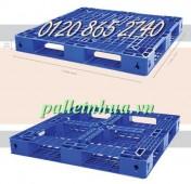 Pallet nhựa, pallet nhựa 1100x1100mm, pallet giá rẻ - 01208652740 Huyền