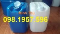 Can đựng hóa chất, can 20 lít, can nhựa vuông giá rẻ