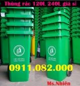Nơi phân phối thùng rác giá rẻ tại hậu giang- Thùng rác 120L 240L giá sỉ- lh 091