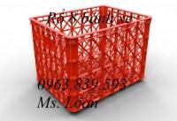 Sóng nhựa có 8 bánh xe chở hàng, sóng nhựa siêu bền 0963.839.593 Loan