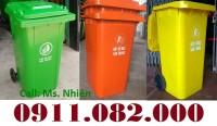 Xả kho thùng rác 240 lít giá rẻ tại cà mau, thùng rác mới 100‰- lh 0911082000