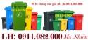 Sỉ thùng rác 660 lít giá rẻ tại vĩnh long- Thùng rác màu xanh, cam- lh 091108200