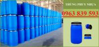 Thùng phuy nhựa, thùng phuy đựng hóa chất công nghiệp mới - 096 383 9593