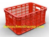 Sóng nhựa HS018, sóng nhựa công nghiệp, sọt nhựa giá rẻ
