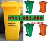 Thùng rác 240 lít sỉ giá rẻ tại hậu giang -lh 0911082000- Nhiên