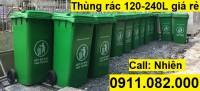 Bán thùng rác 120 lít 240 lít màu xanh, cam,vàng giá siêu rẻ- thùng rác nhựa