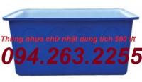 Thùng nhựa HCN 50l, thùng nhựa dung tích lớn, thùng chứa công nghiệp giá rẻ