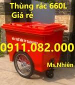 Nơi bán thùng rác 120 lít 240 lít 660 lít giá rẻ tại vĩnh long- cần thơ