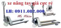 Công ty bán xe nâng tay 3 tấn giá rẻ tại cần thơ - lh 0911082000