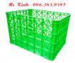 thùng nhựa đựng hàng chất liệu nhựa hdpe, rổ nhựa công nghiệp cỡ lớn, khay nhựa