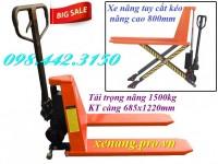Xe nâng tay cắt kéo nâng cao 800mm tải trọng 1.5 tấn giá siêu rẻ call 0984423150