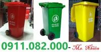 Cung cấp thùng rác 120 lít giá rẻ tại hậu giang- thùng rác nắp kín
